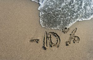 percent sign in sand | Percentage of Net Worth in Cash