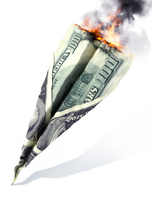 burning money | how will a stock market crash affect me