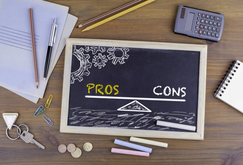 pros cons chalkboard | pros and cons of using a financial advisor