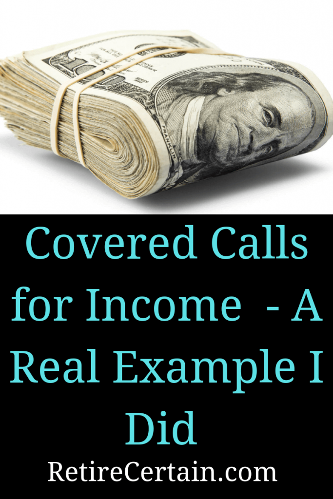 covered calls for income Pinterest image