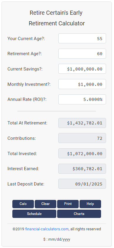 how much money do you need to live off investments