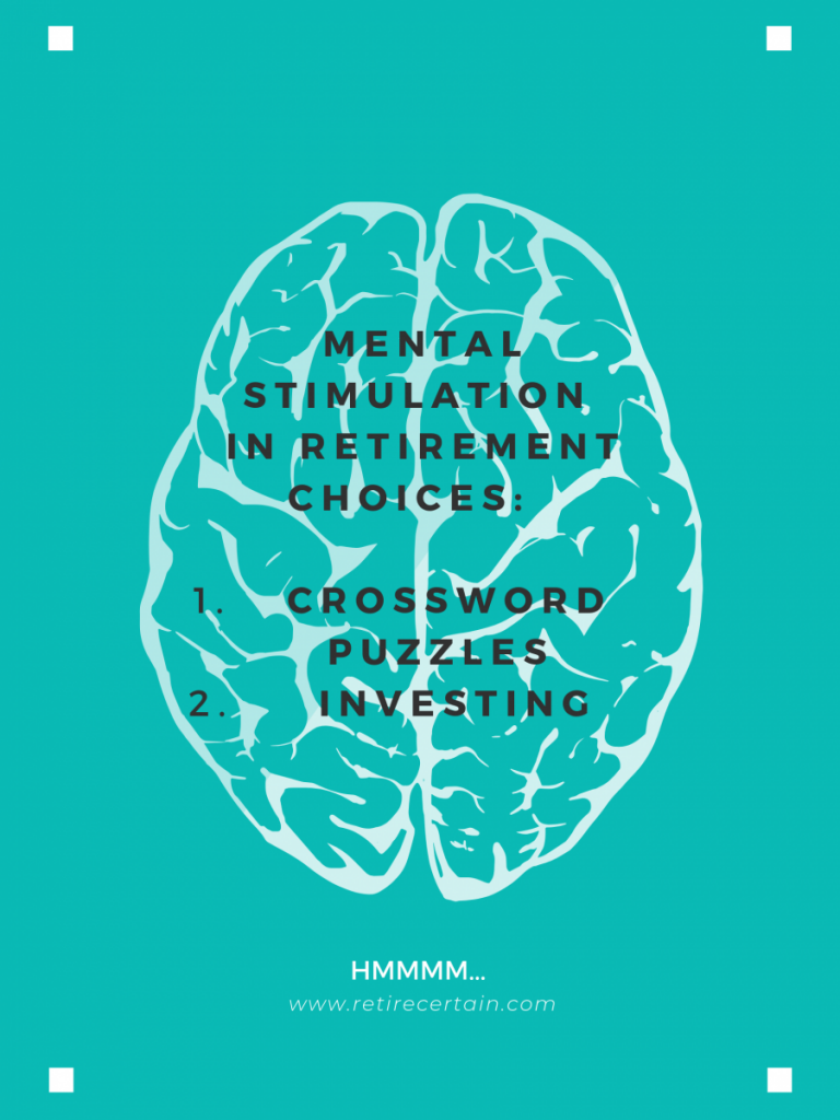 mental stimulation poster | how much money to live off investments