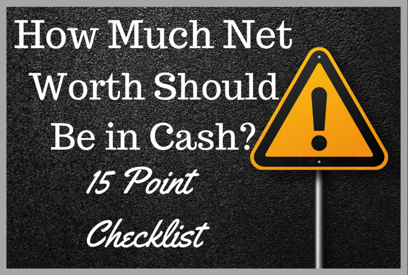 how much net worth should be in cash checklist