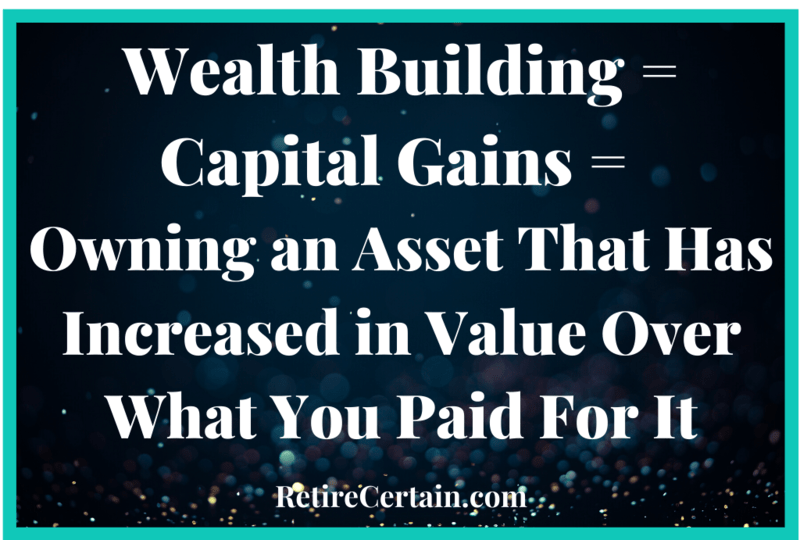 wealth building equals capital gains