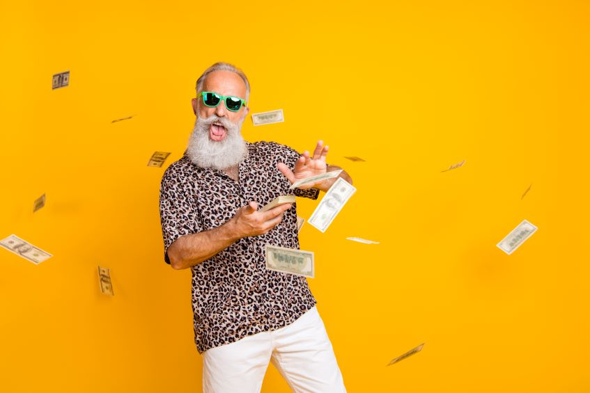 Man over 50 with cash